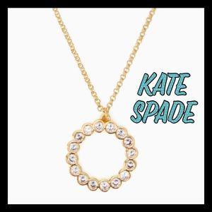 NWT ❤️Kate Spade full circle mini pendant necklace